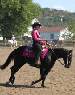 A rider in the horse and colt show